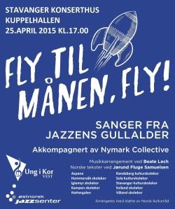 Fly til maanen konsertplakat